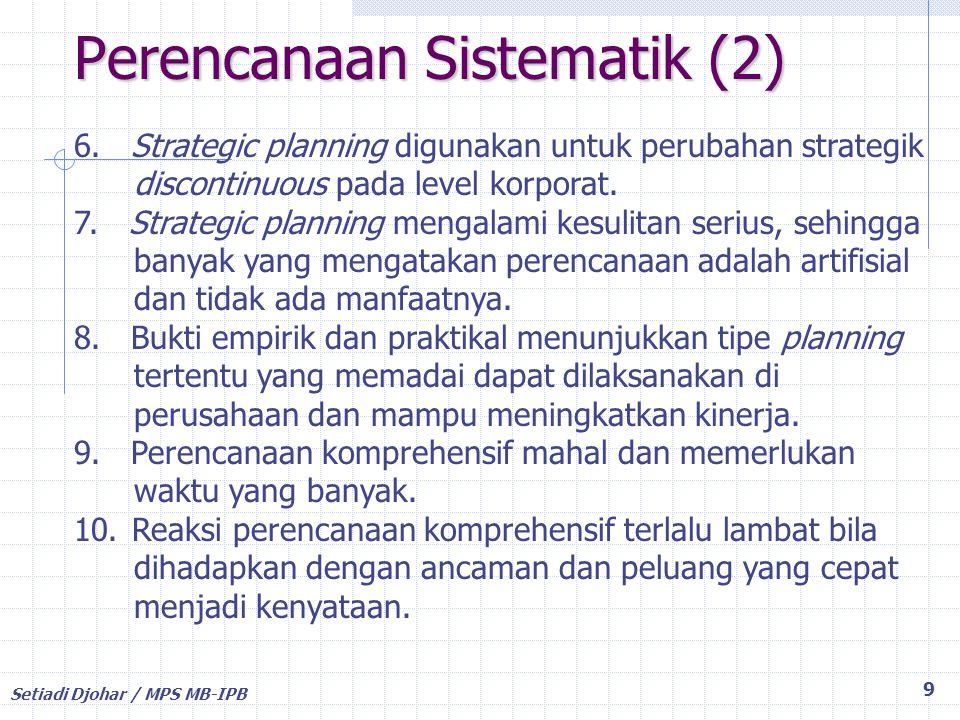 Perencanaan Sistematik (2)