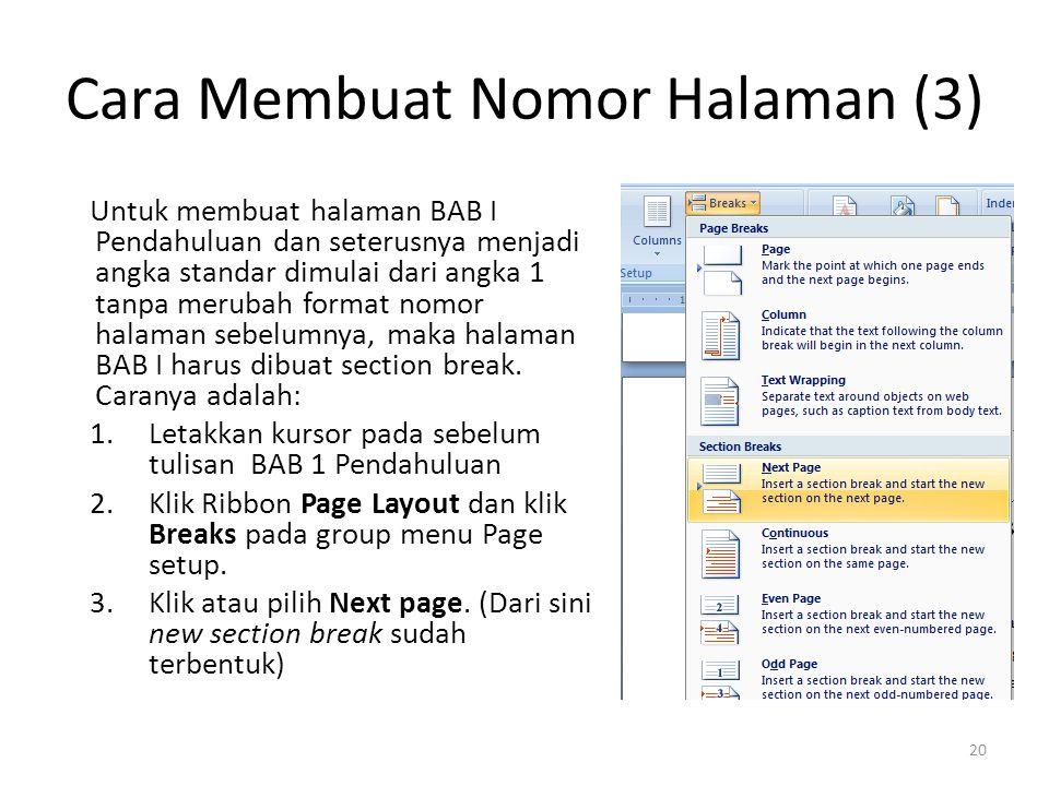 Cara Membuat Nomor Halaman (3)