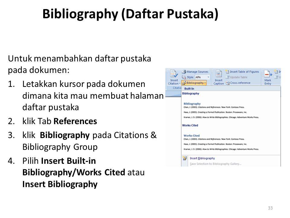 Bibliography (Daftar Pustaka)