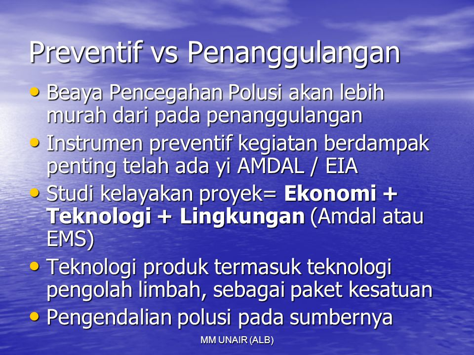 Preventif vs Penanggulangan