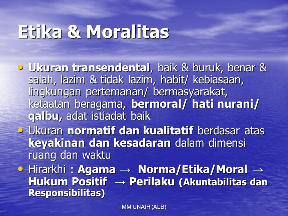 Etika & Moralitas