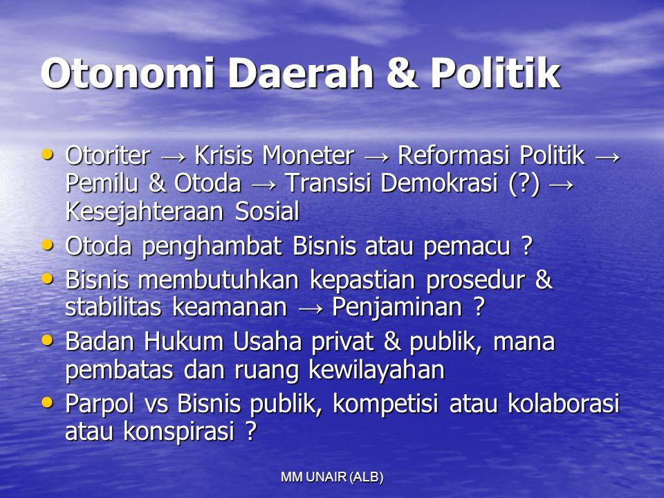 Otonomi Daerah & Politik