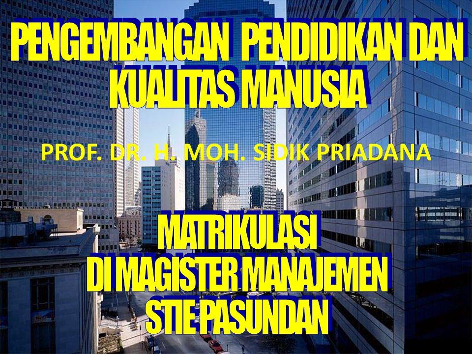PROF. DR. H. MOH. SIDIK PRIADANA