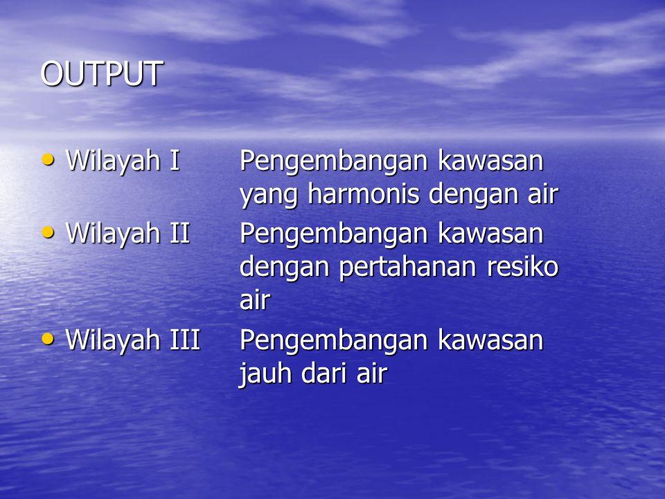 OUTPUT Wilayah I Pengembangan kawasan yang harmonis dengan air