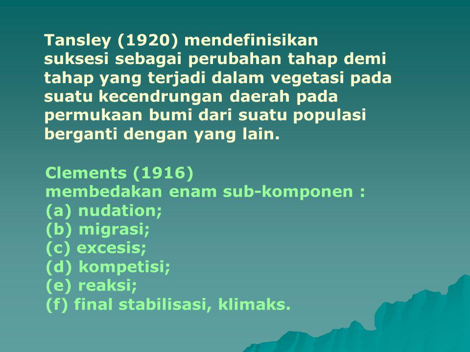 Tansley (1920) mendefinisikan