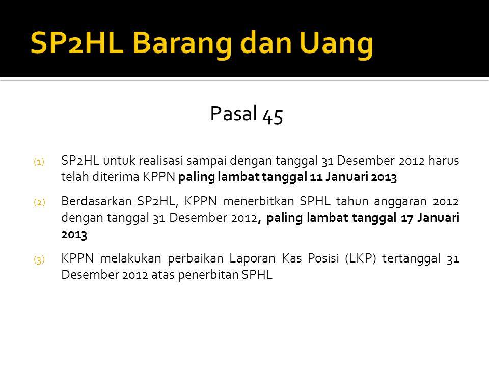 SP2HL Barang dan Uang Pasal 45
