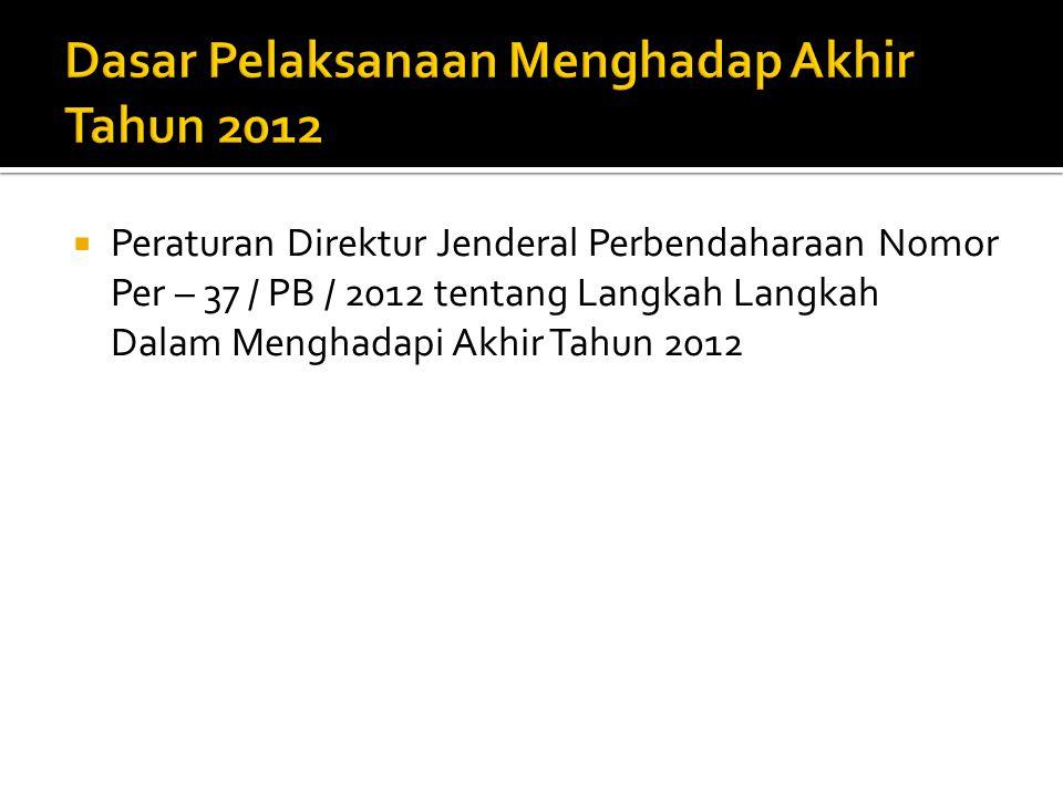 Dasar Pelaksanaan Menghadap Akhir Tahun 2012