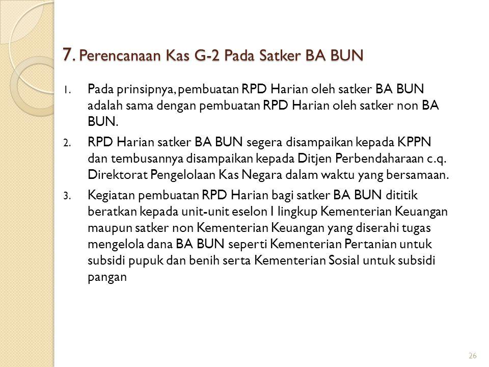 7. Perencanaan Kas G-2 Pada Satker BA BUN