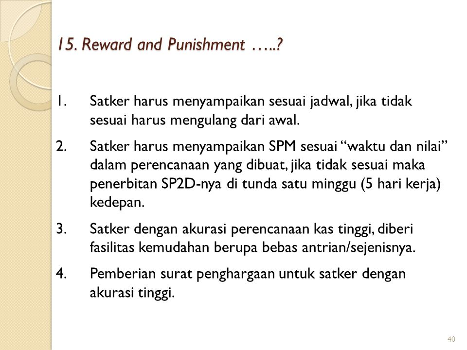 15. Reward and Punishment …..