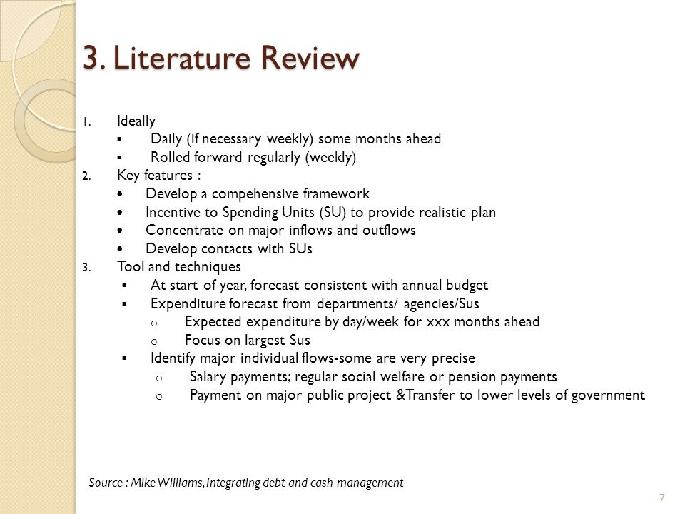 3. Literature Review Ideally