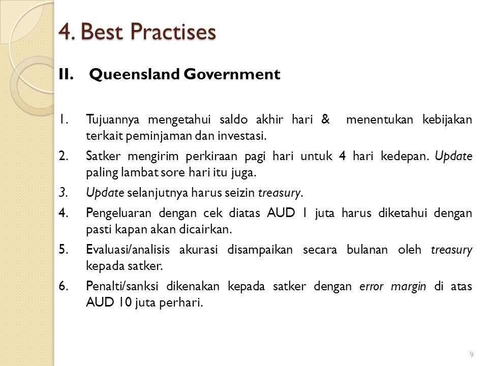 4. Best Practises Queensland Government