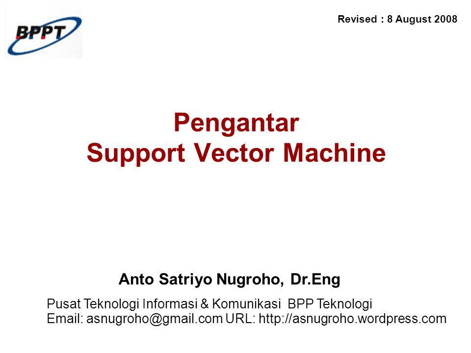 Pengantar Support Vector Machine