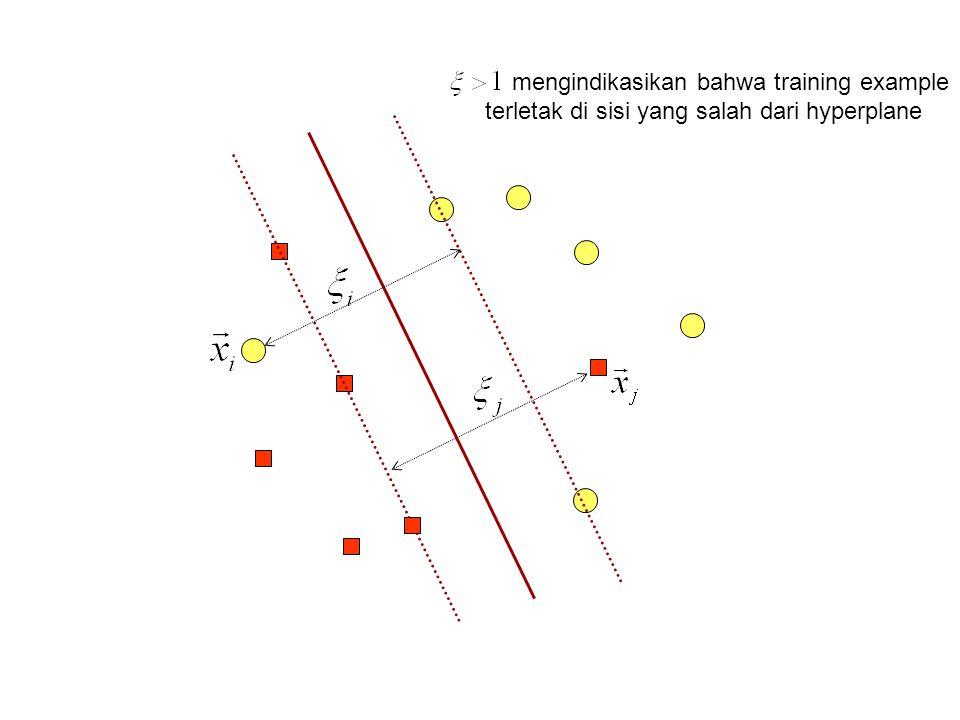 mengindikasikan bahwa training example