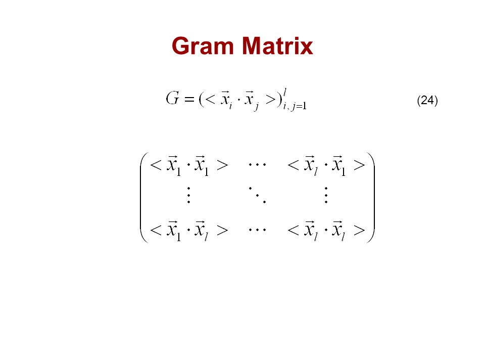 Gram Matrix (24)