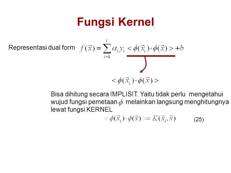 Fungsi Kernel Representasi dual form