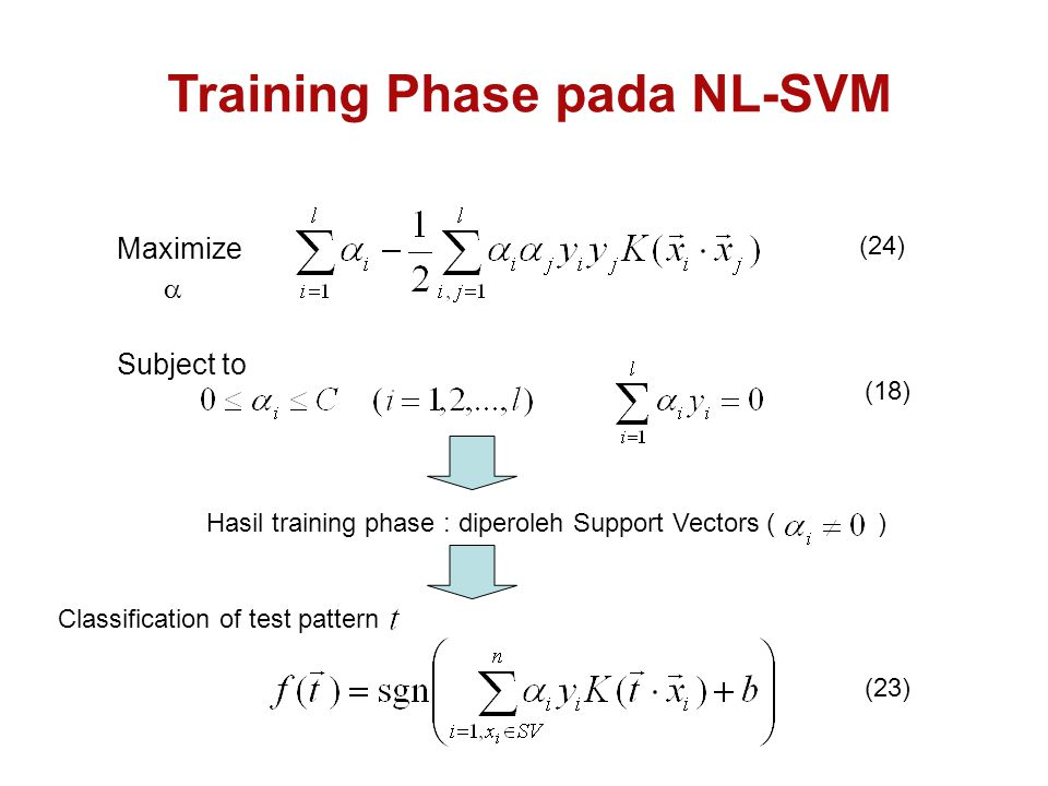 Training Phase pada NL-SVM
