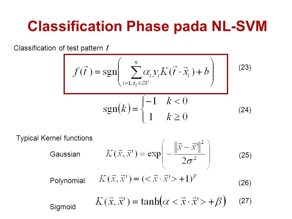 Classification Phase pada NL-SVM