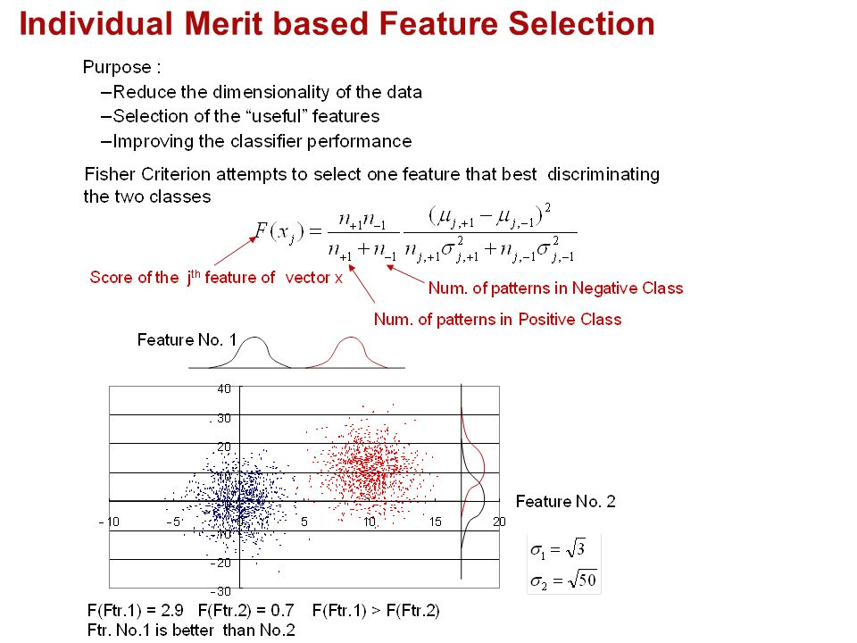 Individual Merit based Feature Selection
