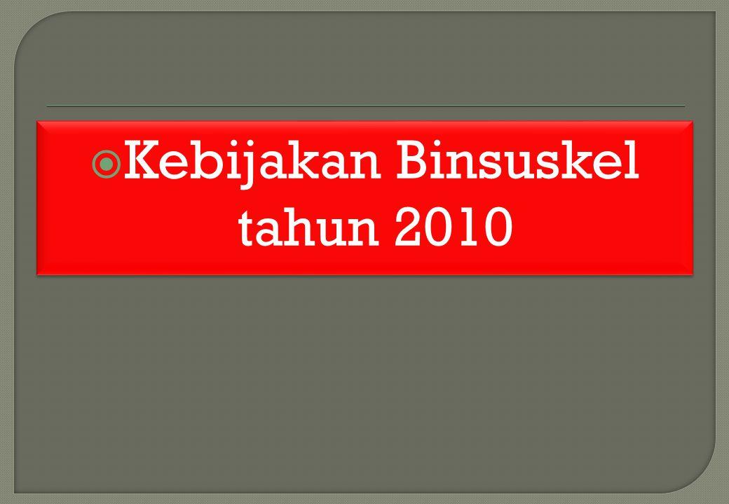 Kebijakan Binsuskel tahun 2010