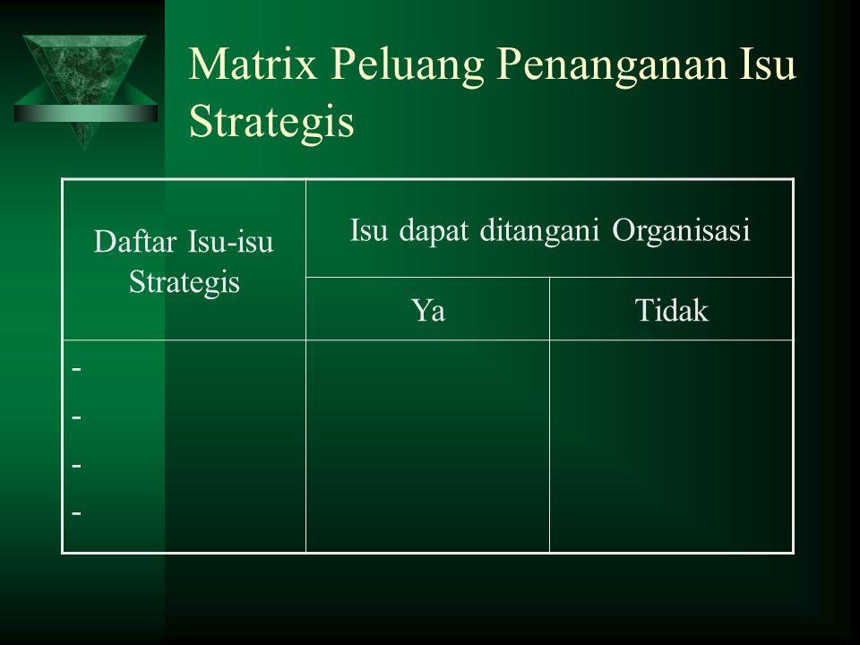 Matrix Peluang Penanganan Isu Strategis