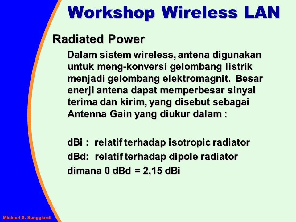 Workshop Wireless LAN Radiated Power
