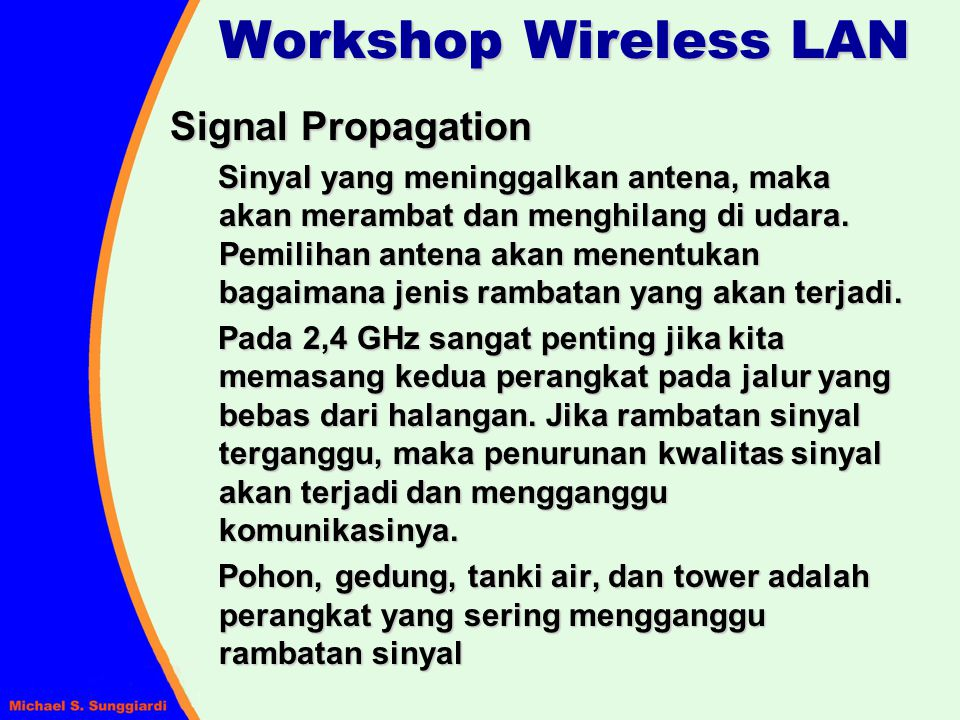 Workshop Wireless LAN Signal Propagation