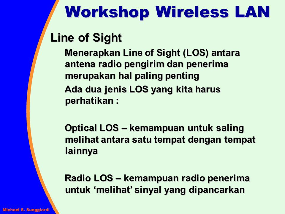 Workshop Wireless LAN Line of Sight