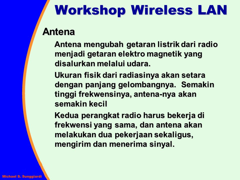 Workshop Wireless LAN Antena