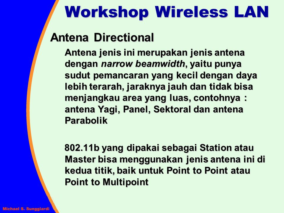 Workshop Wireless LAN Antena Directional