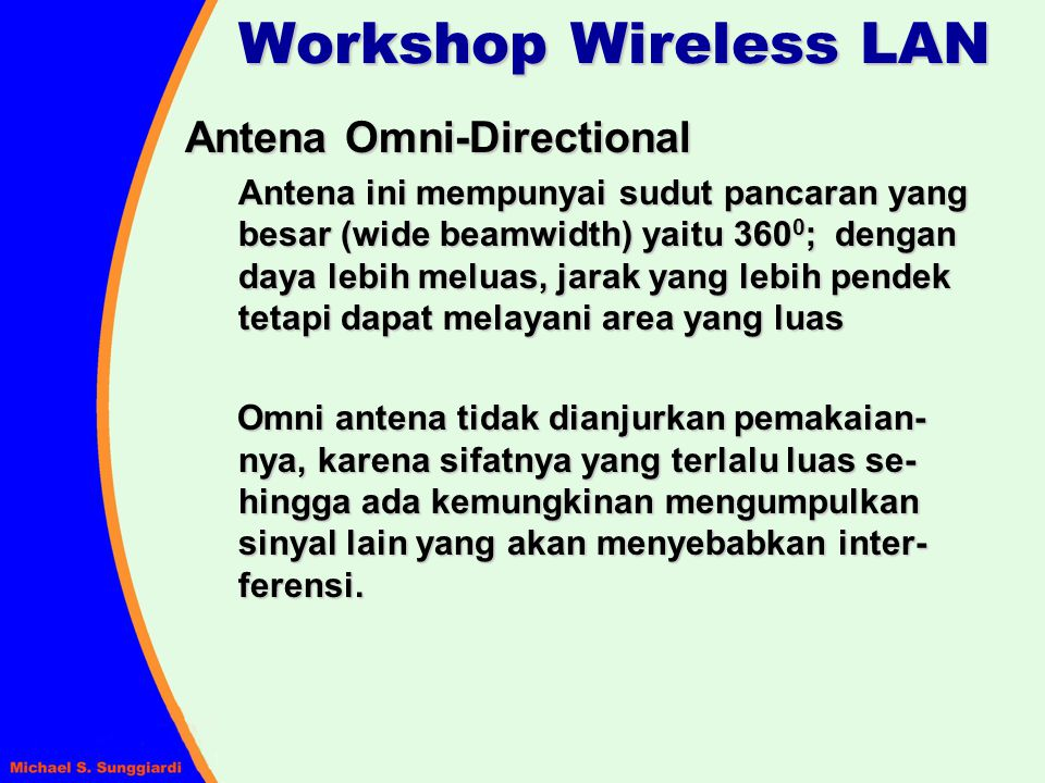 Workshop Wireless LAN Antena Omni-Directional