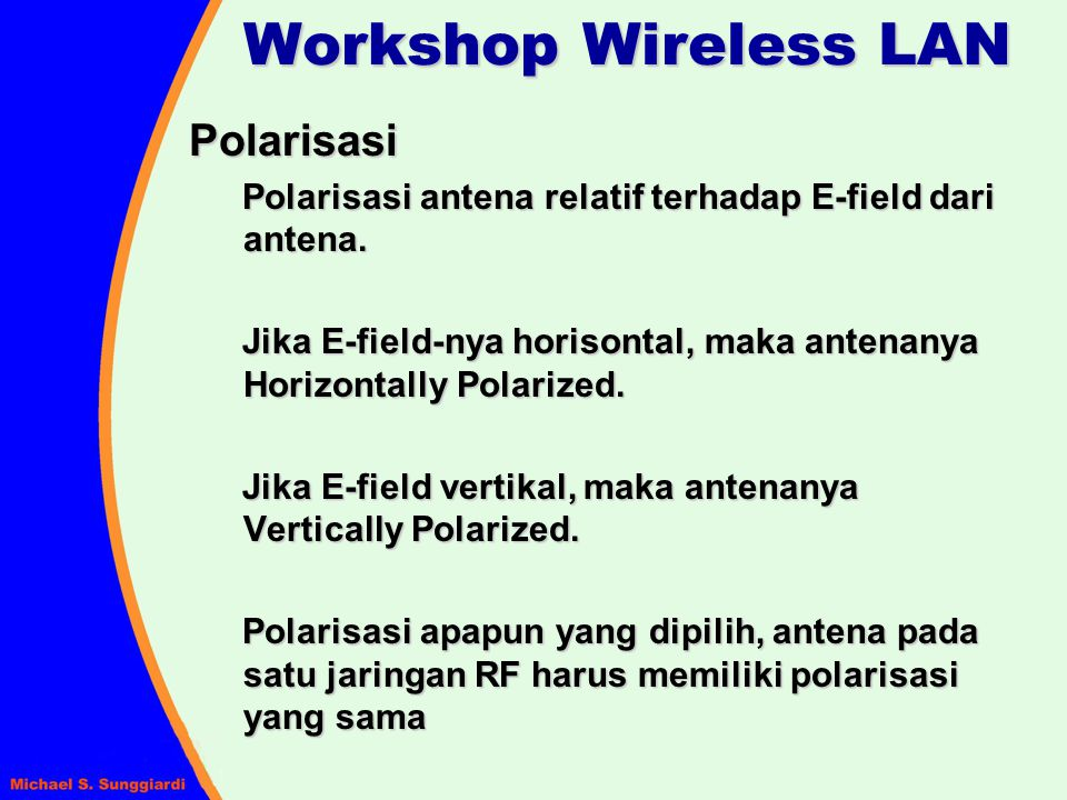Workshop Wireless LAN Polarisasi