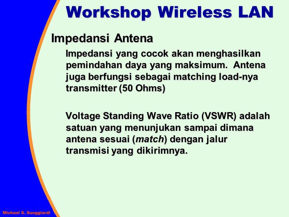 Workshop Wireless LAN Impedansi Antena