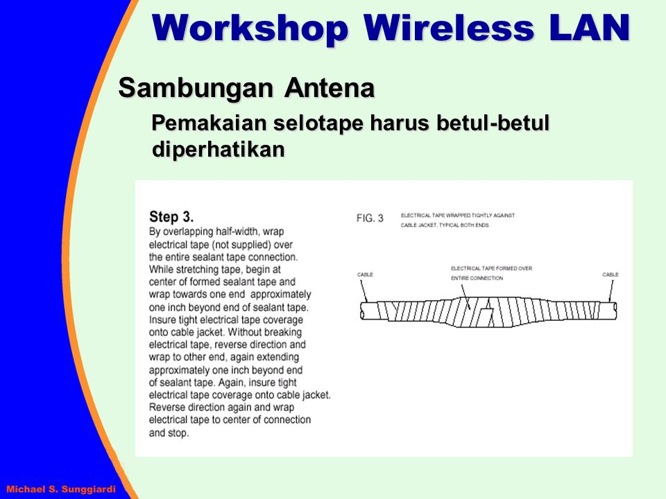Workshop Wireless LAN Sambungan Antena