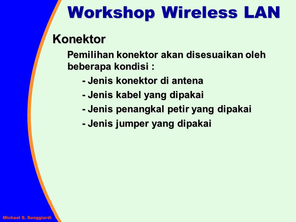 Workshop Wireless LAN Konektor