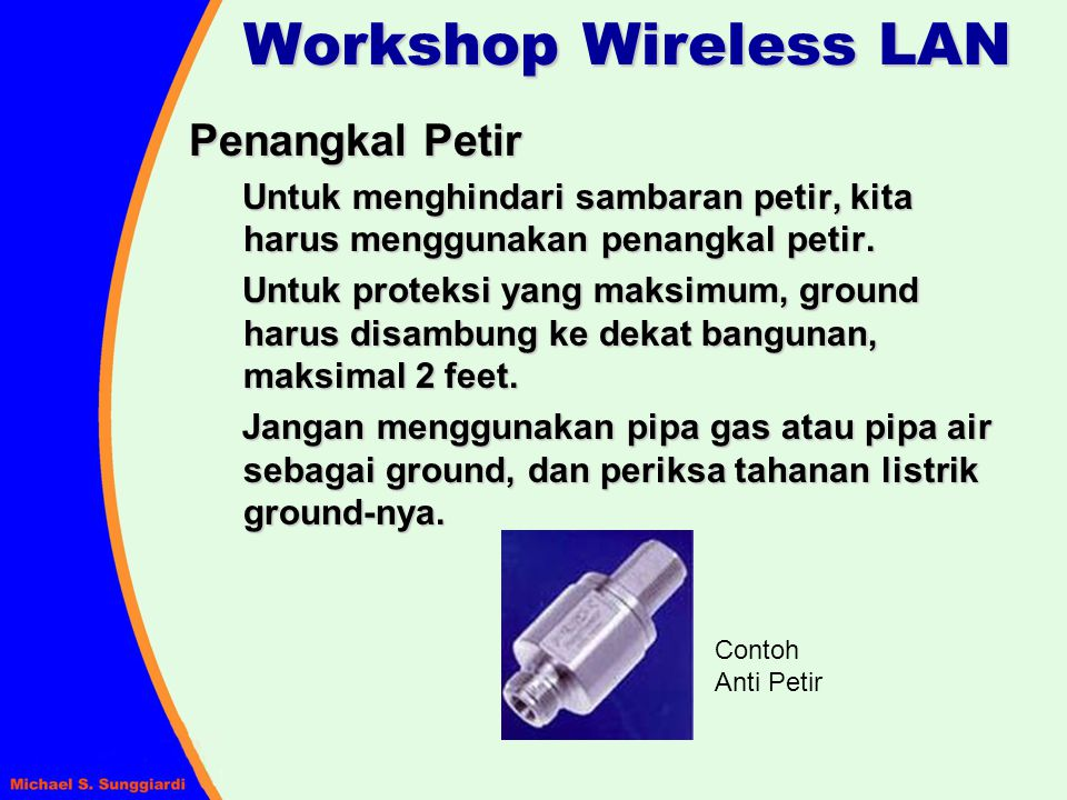 Workshop Wireless LAN Penangkal Petir