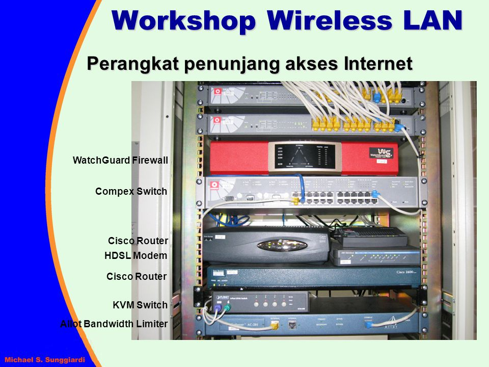 Workshop Wireless LAN Perangkat penunjang akses Internet