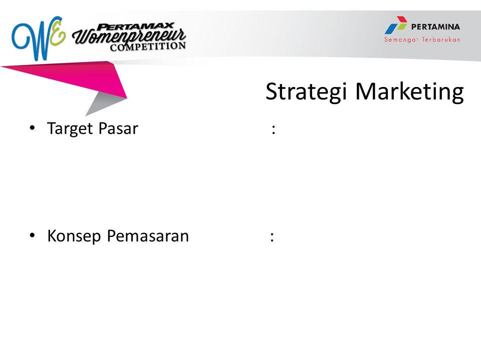 Strategi Marketing Target Pasar : Konsep Pemasaran :