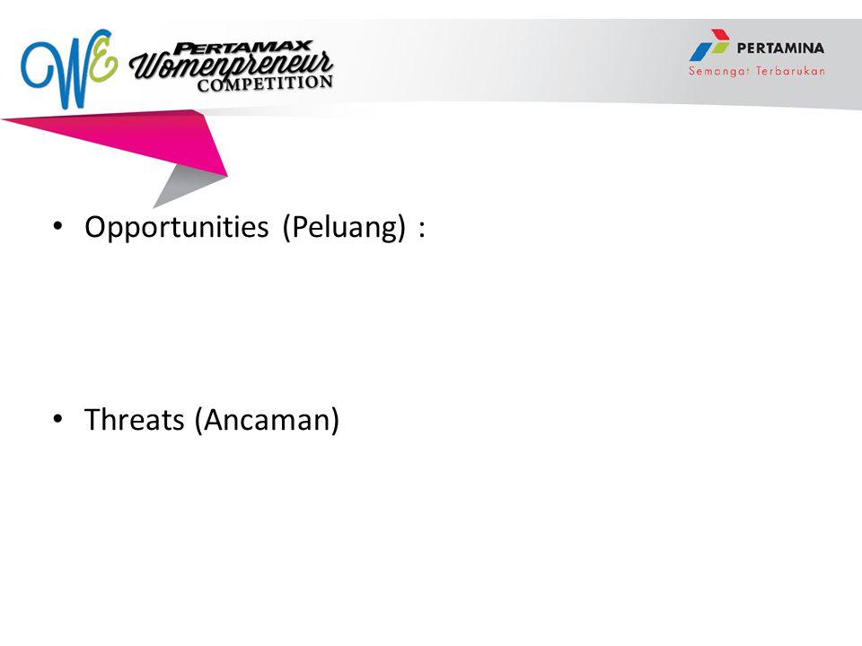 Opportunities (Peluang) :