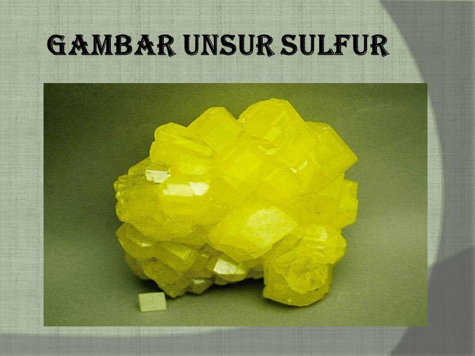 Gambar Unsur Sulfur