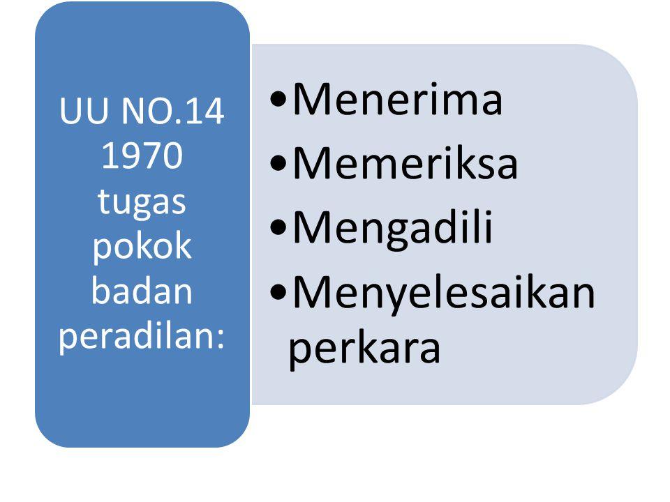 UU NO.14 1970 tugas pokok badan peradilan: