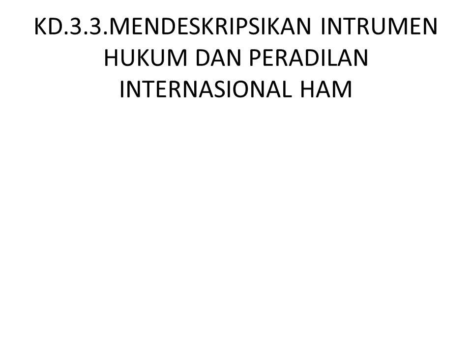 KD.3.3.MENDESKRIPSIKAN INTRUMEN HUKUM DAN PERADILAN INTERNASIONAL HAM