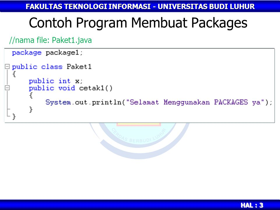 Contoh Program Membuat Packages