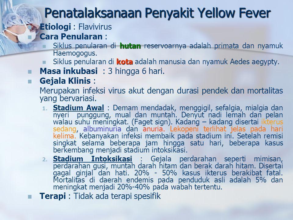 Penatalaksanaan Penyakit Yellow Fever