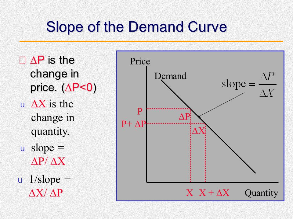 Slope of the Demand Curve