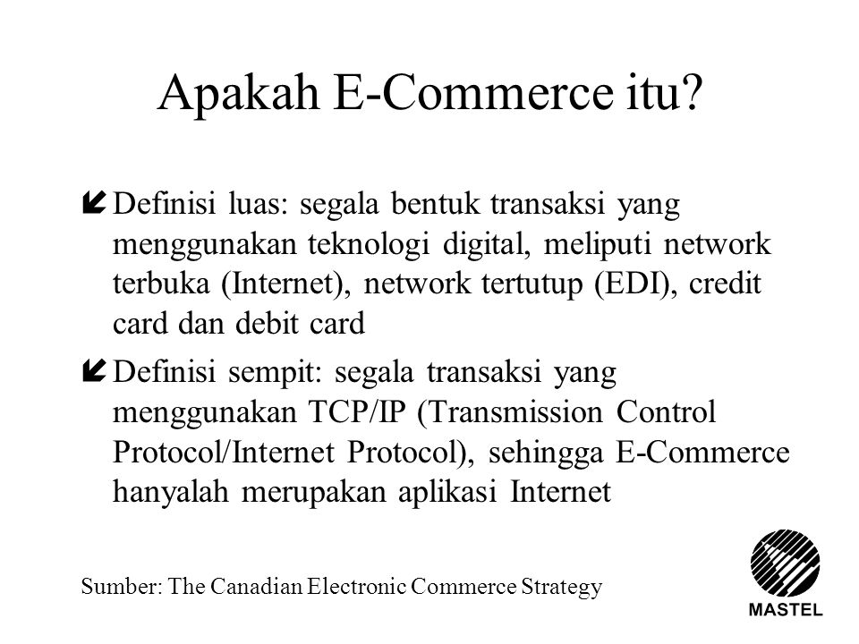 Apakah E-Commerce itu