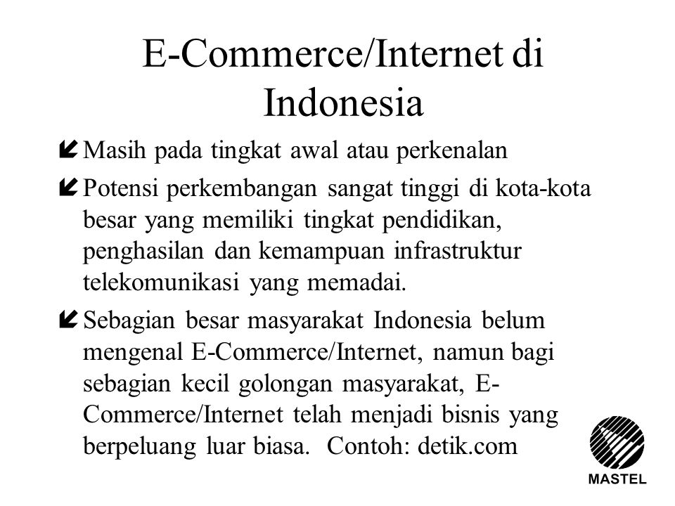 E-Commerce/Internet di Indonesia