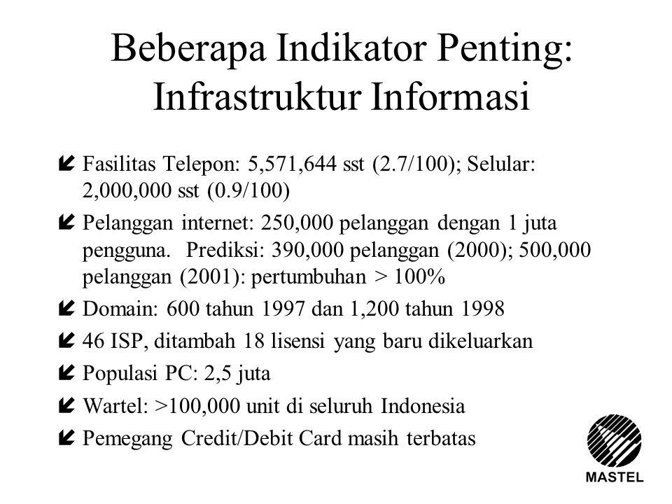 Beberapa Indikator Penting: Infrastruktur Informasi