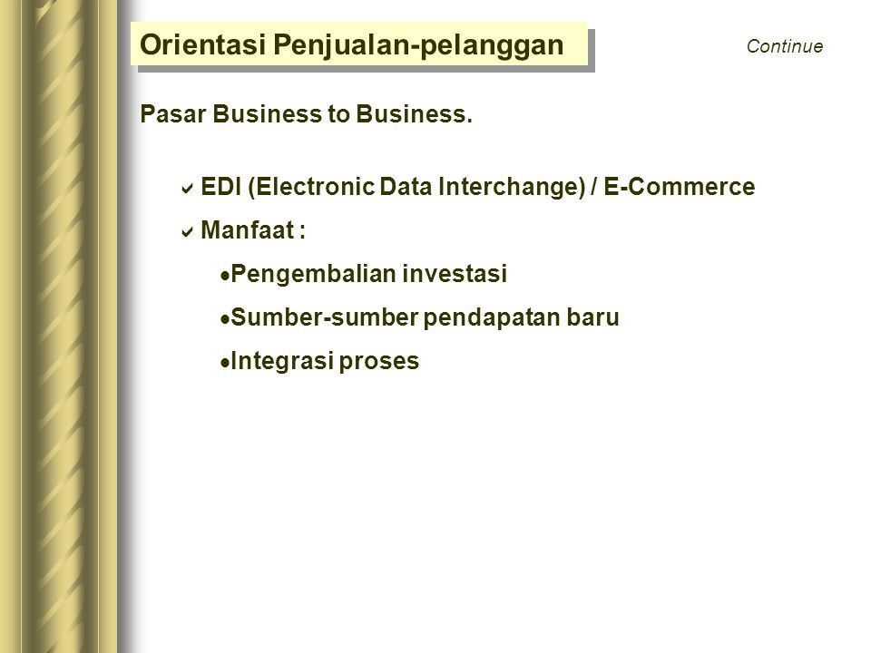 Orientasi Penjualan-pelanggan