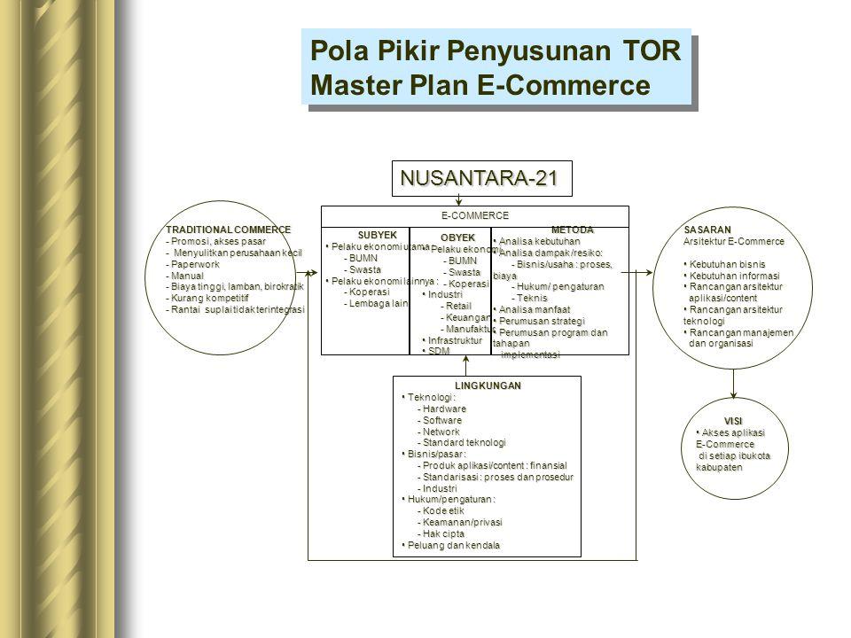 Pola Pikir Penyusunan TOR Master Plan E-Commerce