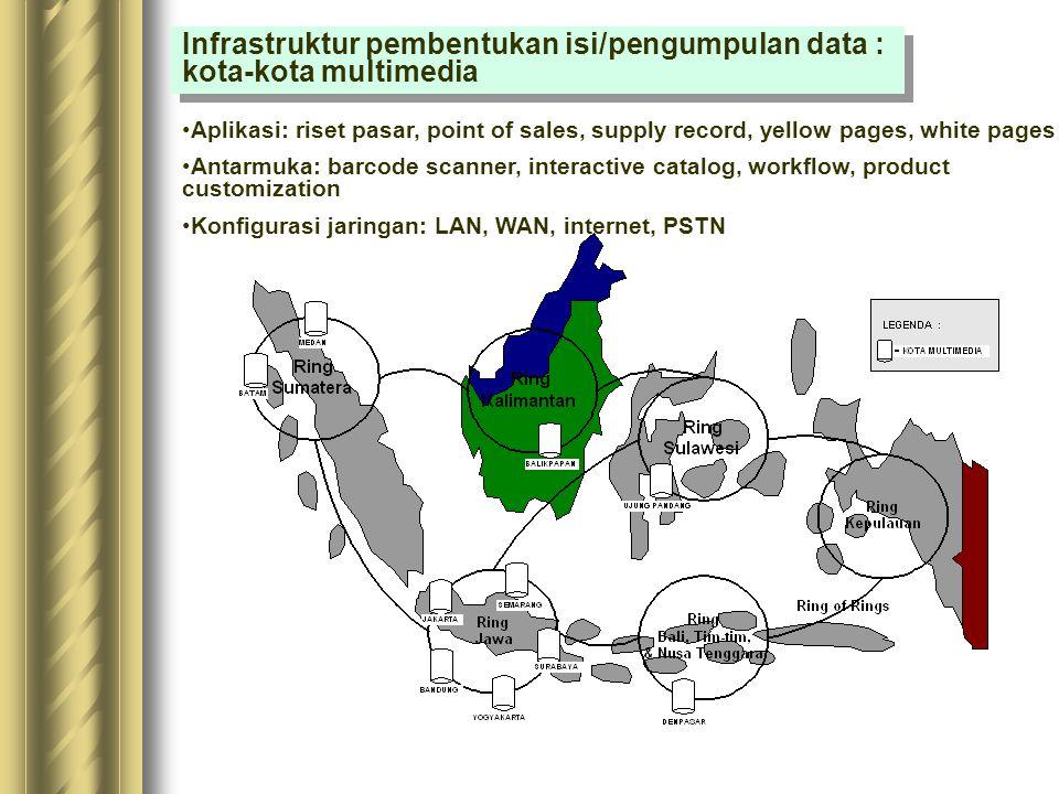 Infrastruktur pembentukan isi/pengumpulan data : kota-kota multimedia
